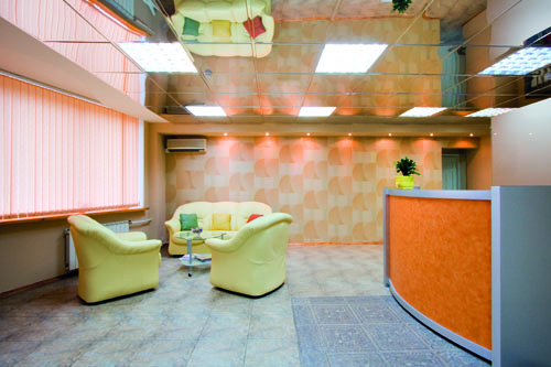 Interior of modern reception room in office