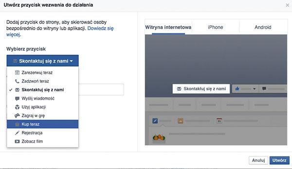 Fot. 2. Wpisujemy adres, na który trafi użytkownik klikający w przycisk wezwania.