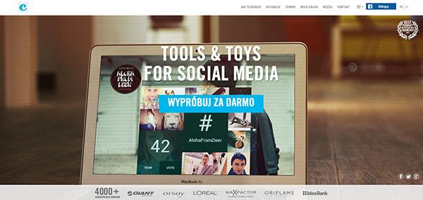 Fot. 9. Strona główna Clickapps.